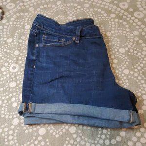 A.n.a. blue Denim hemmed shorts